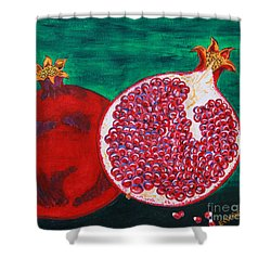Powerful Poms Shower Curtain
