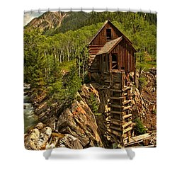 Powering Down Shower Curtain by Adam Jewell