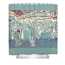 Powwow Shadows Shower Curtain by Clarice  Lakota