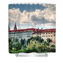Shower Curtain featuring the photograph Prague Castle by Joe  Ng