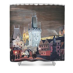 Prague Charles Bridge - Karluv Most Shower Curtain by M Bleichner