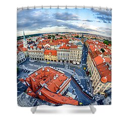 Prague From Above Shower Curtain