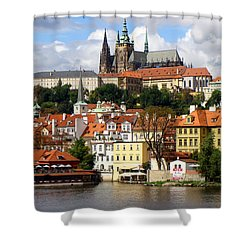 Shower Curtain featuring the photograph Prague Skyline by Ira Shander