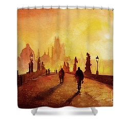 Prague Sunrise Shower Curtain