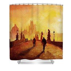 Prague Sunrise Shower Curtain