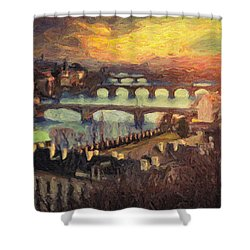 Prague Shower Curtain by Taylan Apukovska