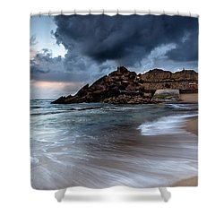 Praia Formosa Shower Curtain