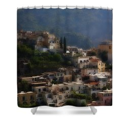 Praiano Amalfi Coast Shower Curtain
