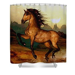 Shower Curtain featuring the painting Prairie Dancer by Valerie Anne Kelly