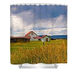 Wyoming Prairie Scene Shower Curtain
