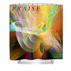 Shower Curtain featuring the digital art Praise by Margie Chapman