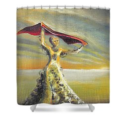 'praise You In This Storm' Shower Curtain