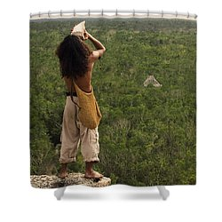 Praising The Gods Shower Curtain by Adam Romanowicz