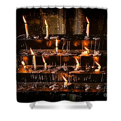 Prayer Candles Shower Curtain by Adrian Evans