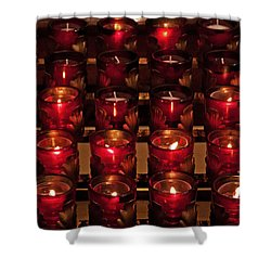 Prayer Candles Shower Curtain