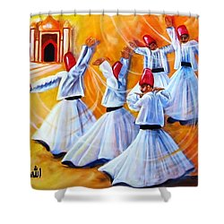 Prayer Circles Shower Curtain by Carol Allen Anfinsen