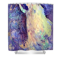 Prayer Shower Curtain by Marilyn Jacobson