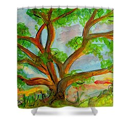 Prayer Mountain Tree Shower Curtain