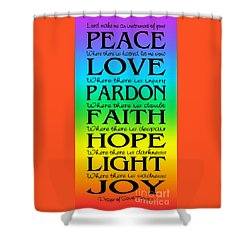 Prayer Of St Francis - Subway Style - Rainbow Shower Curtain