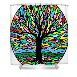 Prayer Tree Shower Curtain