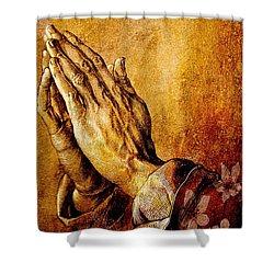 Praying Hands Shower Curtain