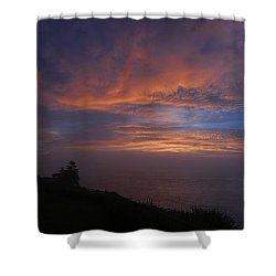 Pre Dawn Lighthouse Sentinal Shower Curtain by Marty Saccone