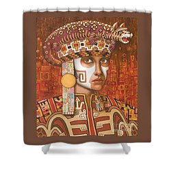 Pre-inca 1 Shower Curtain by Jane Whiting Chrzanoska