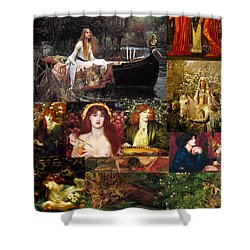 Pre Raphaelite Collage Shower Curtain by Philip Ralley