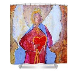 Precious Heart Angel Shower Curtain