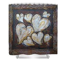 Precious Hearts 301110 Shower Curtain