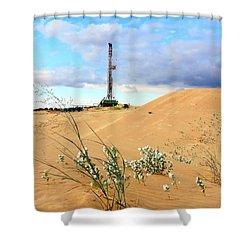 Precision Rig 10 Near Monahans Shower Curtain by Lanita Williams