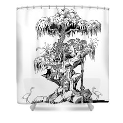 Ptactvo Shower Curtain