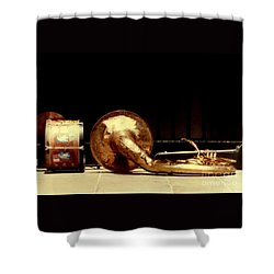 Prelude To New Orleans Jazz Shower Curtain by Michael Hoard