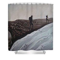 Premonition Shower Curtain by Michael  TMAD Finney