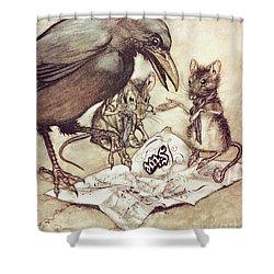 Preposterous Cried Solomon In A Rage From Peter Pan In Kensington Gardens Shower Curtain by Arthur Rackham