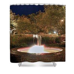 Prescott Park Fountain Shower Curtain by Joann Vitali