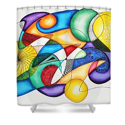 Present Shower Curtain by Shannan Peters