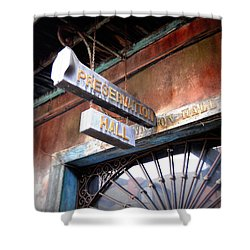 Preservation Hall Shower Curtain by Beth Vincent