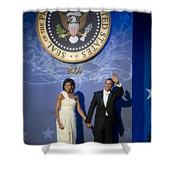 President And Michelle Obama Shower Curtain by had J McNeeley