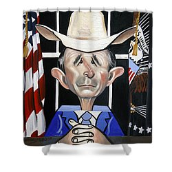 08ff6114748 President George W Bush You Been Cubed Shower Curtain