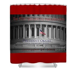 President Obama Inauguration Shower Curtain by Jost Houk