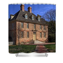 Shower Curtain featuring the photograph President's House College Of William And Mary by Jerry Gammon
