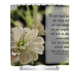 Pressed But Not Crushed Shower Curtain by Debbie Portwood