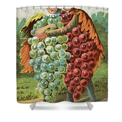 Pressed Grapes Shower Curtain by Aged Pixel