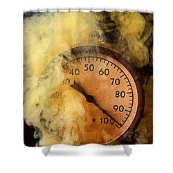Pressure Gauge With Smoke Shower Curtain by Garry Gay