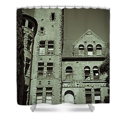 Preston Castle Tower Shower Curtain by Holly Blunkall