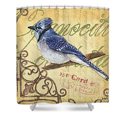 Pretty Bird 4 Shower Curtain