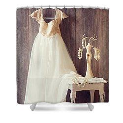 Pretty Dress Shower Curtain by Amanda Elwell