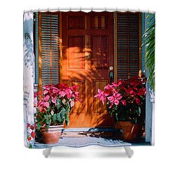 Pretty House Door In Key West Shower Curtain by Susanne Van Hulst