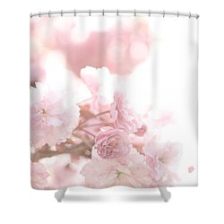 Pretty In Pink - The Confetti Shower Curtain by Lisa Parrish